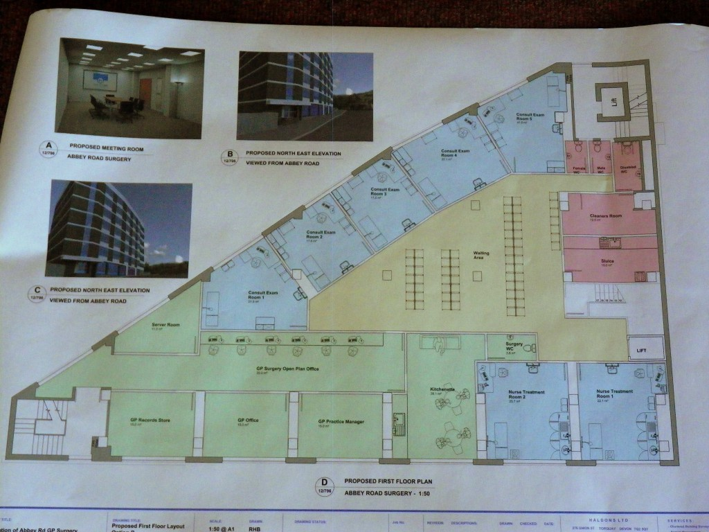Proposed plans for ground floor of Roebuck House (I know it says first floor - it's been changed)