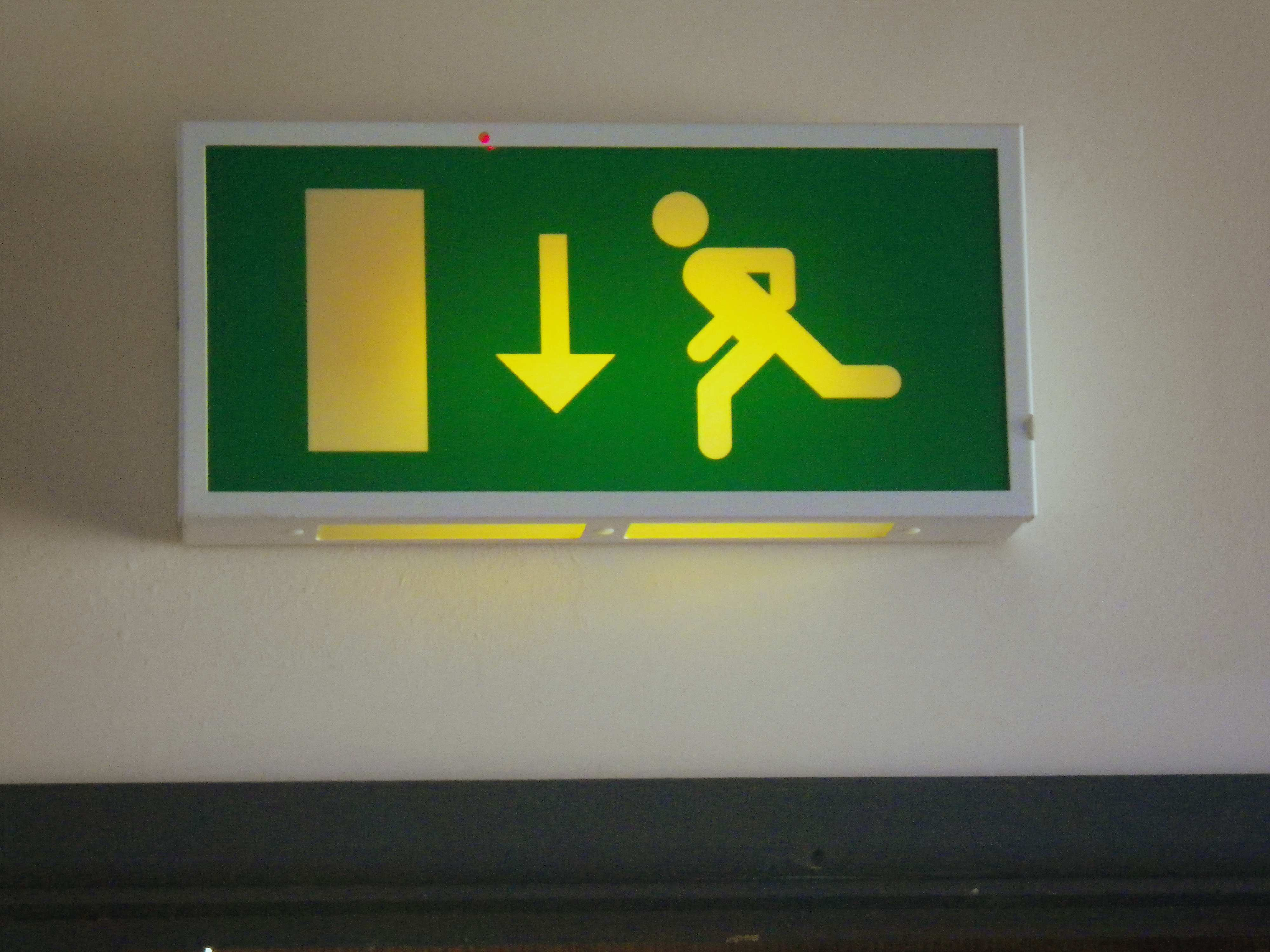 This way out of Roebuck House